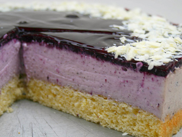 Blueberry Mousse Torte